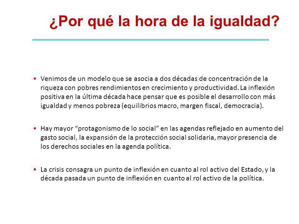 II. UNA HISTORIA RECIENTE: PROGRESOS SOCIALES Y GIRO EN LA IGUALDAD