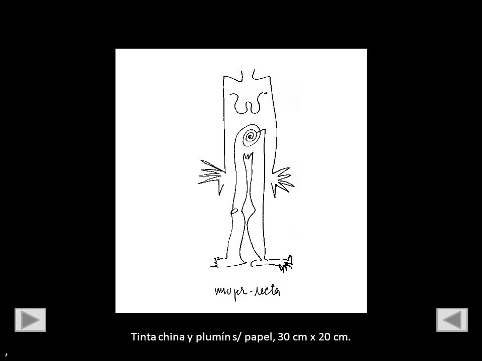 Tinta china y plumín s/ papel, 30 cm x 20 cm.
