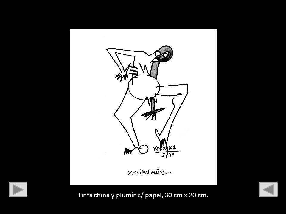 Tinta y plumín s/ papel, 30 cm x 20 cm.
