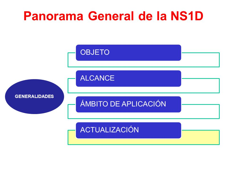 Panorama General de la NS1D GENERALIDADES