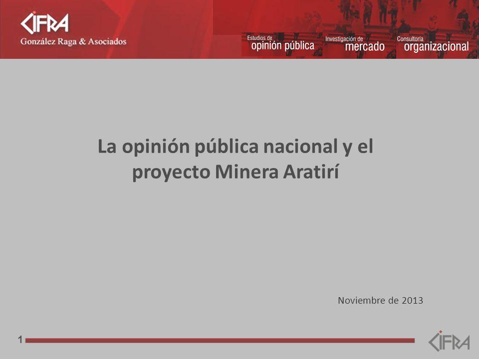 1 Noviembre de 2013 La opinión pública nacional y el proyecto Minera Aratirí