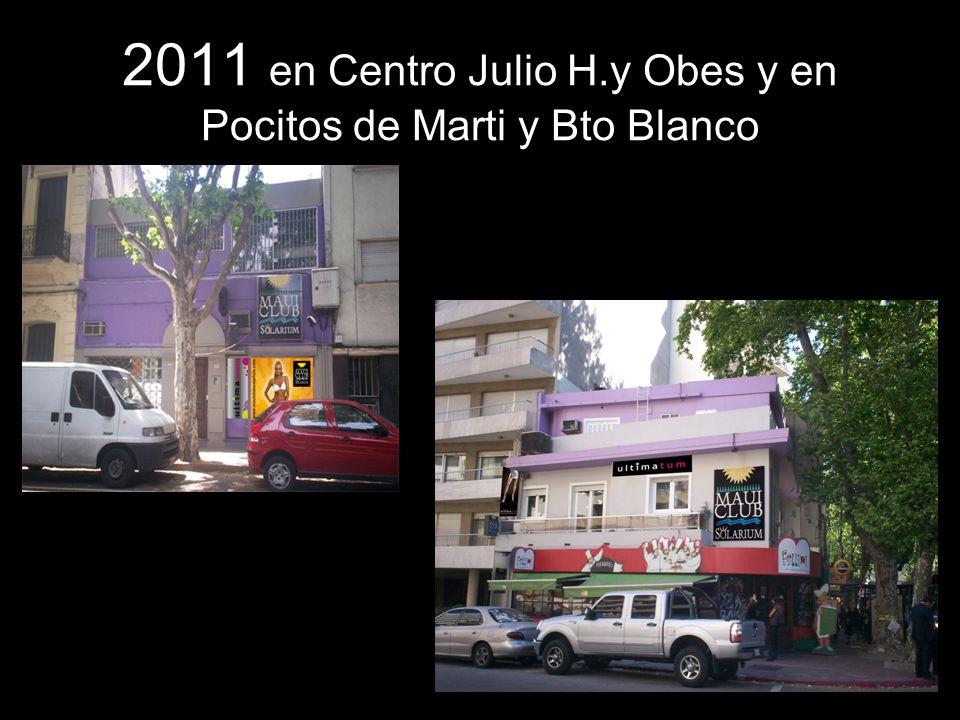 2011 en Centro Julio H.y Obes y en Pocitos de Marti y Bto Blanco