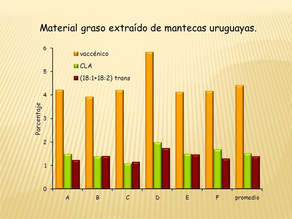 Material graso extraído de mantecas uruguayas.