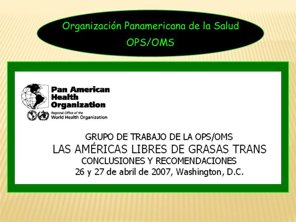 Organización Panamericana de la Salud OPS/OMS