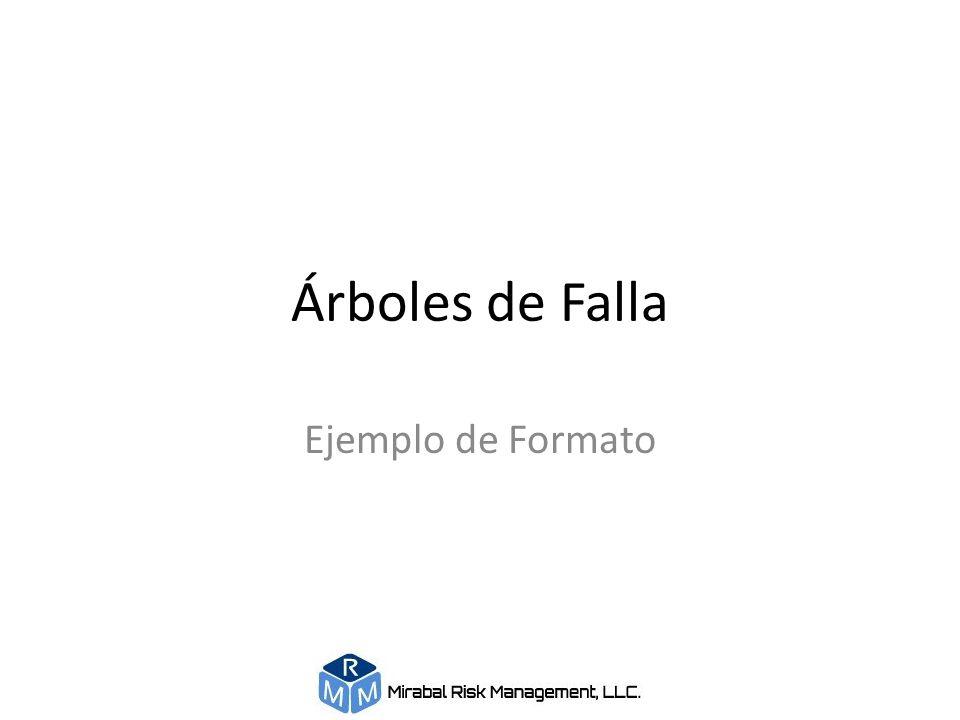 Árboles de Falla Ejemplo de Formato