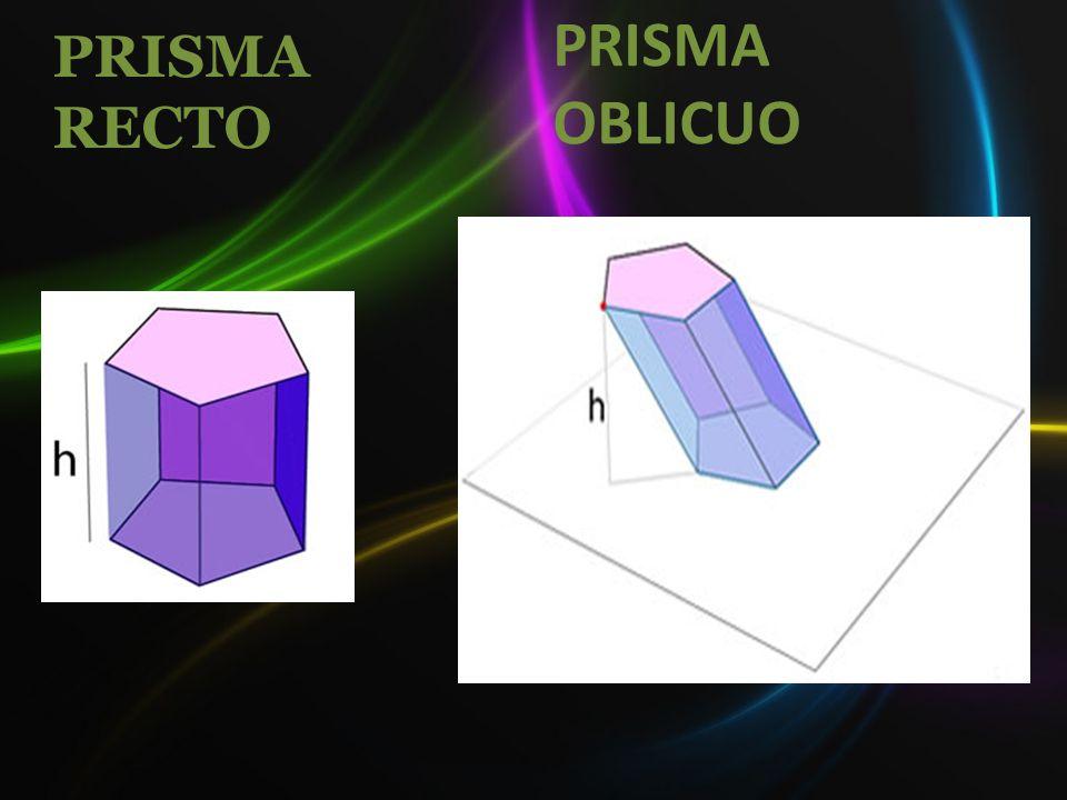 PRISMA RECTO PRISMA OBLICUO