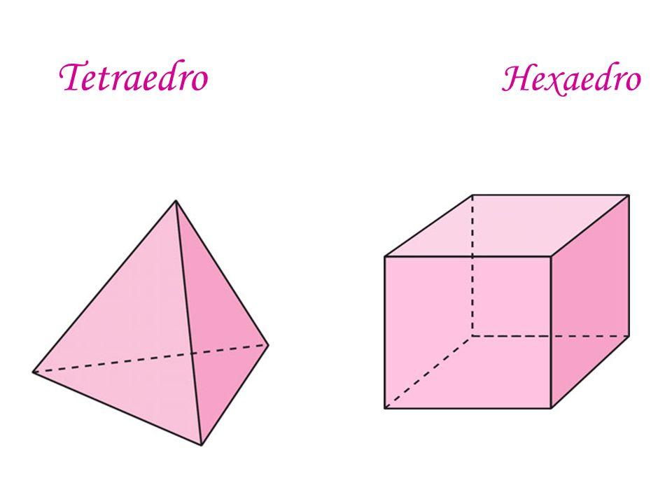 Tetraedro _ Los polígonos que forman las caras son triángulos Equiláteros.