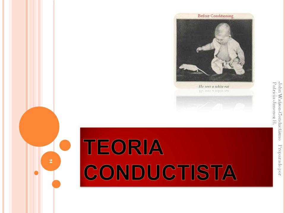 John Watson-Conductismo Preparado por Patricia Jimenez H. 2