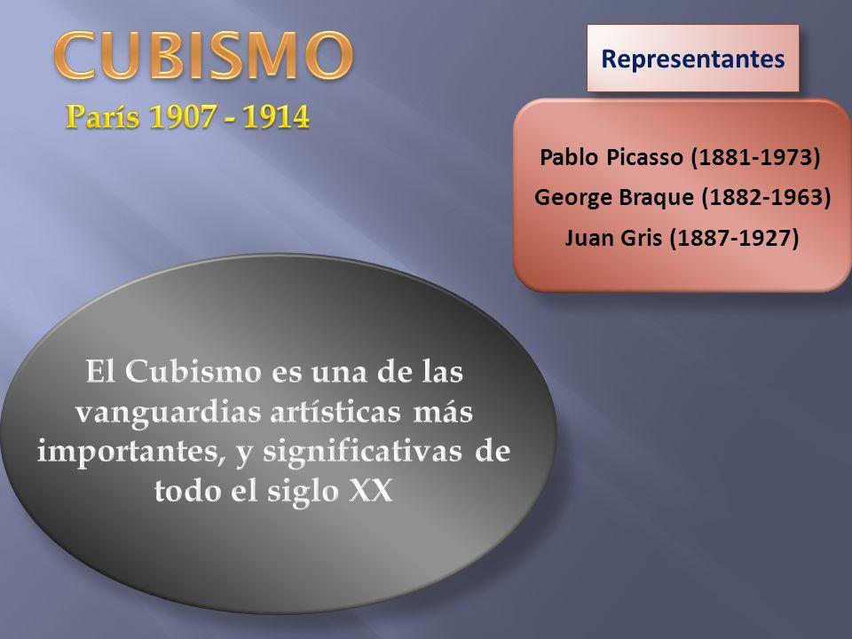 Pablo Picasso (1881-1973) George Braque (1882-1963) Juan Gris (1887-1927) Representantes