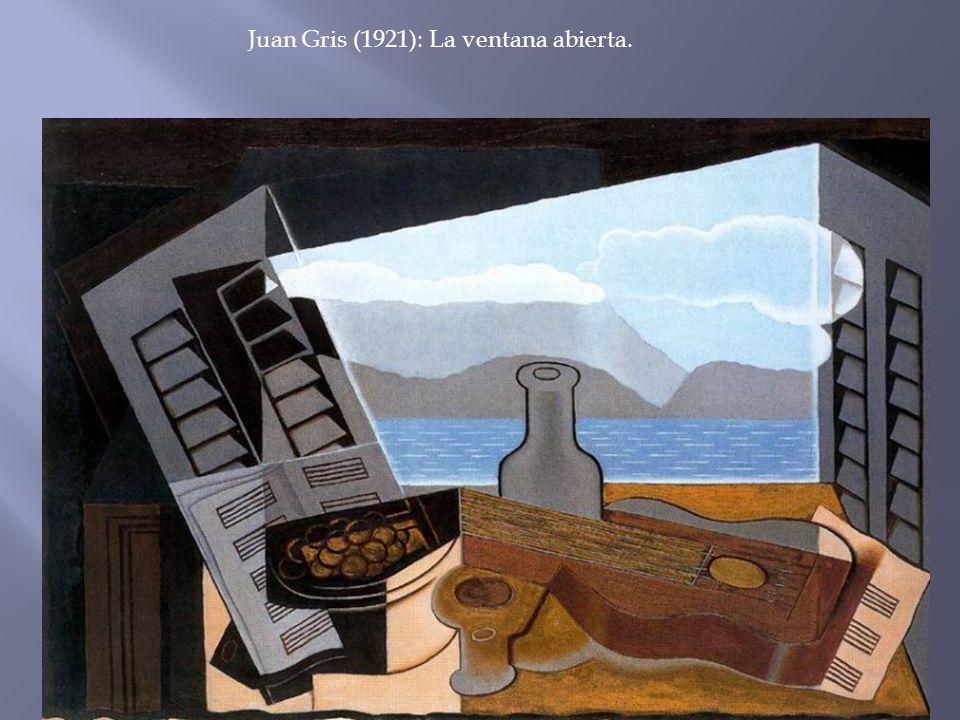 Juan Gris (1921): La ventana abierta.