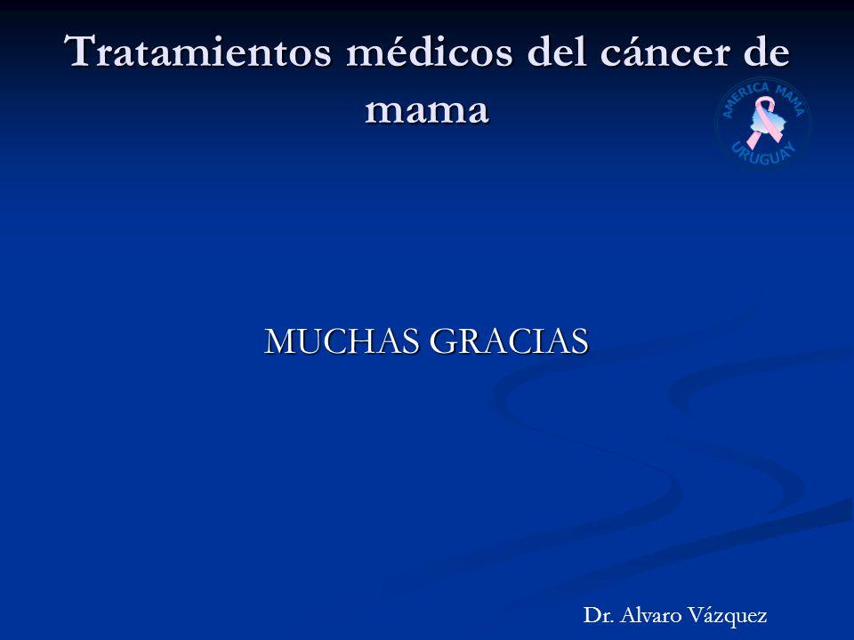 Tratamientos médicos del cáncer de mama MUCHAS GRACIAS Dr. Alvaro Vázquez