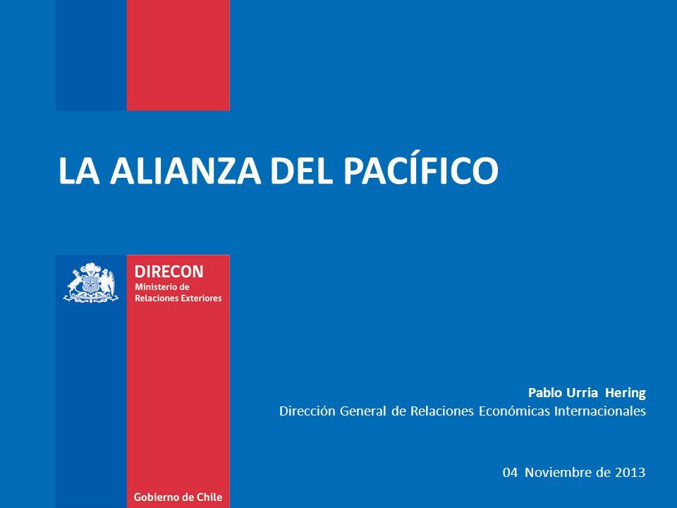 LA ALIANZA DEL PACÍFICO Pablo Urria Hering Dirección General de Relaciones Económicas Internacionales 04 Noviembre de 2013