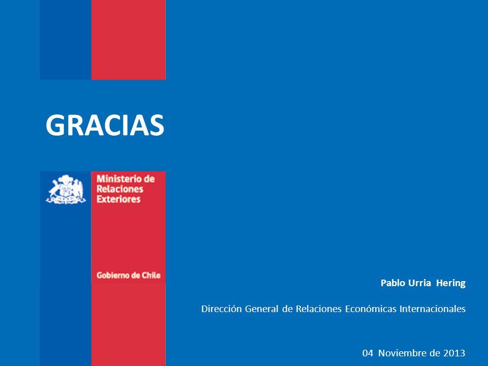 GRACIAS Pablo Urria Hering Dirección General de Relaciones Económicas Internacionales 04 Noviembre de 2013