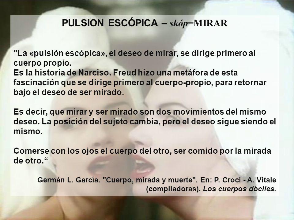 PULSION ESCÓPICA – skóp=MIRAR