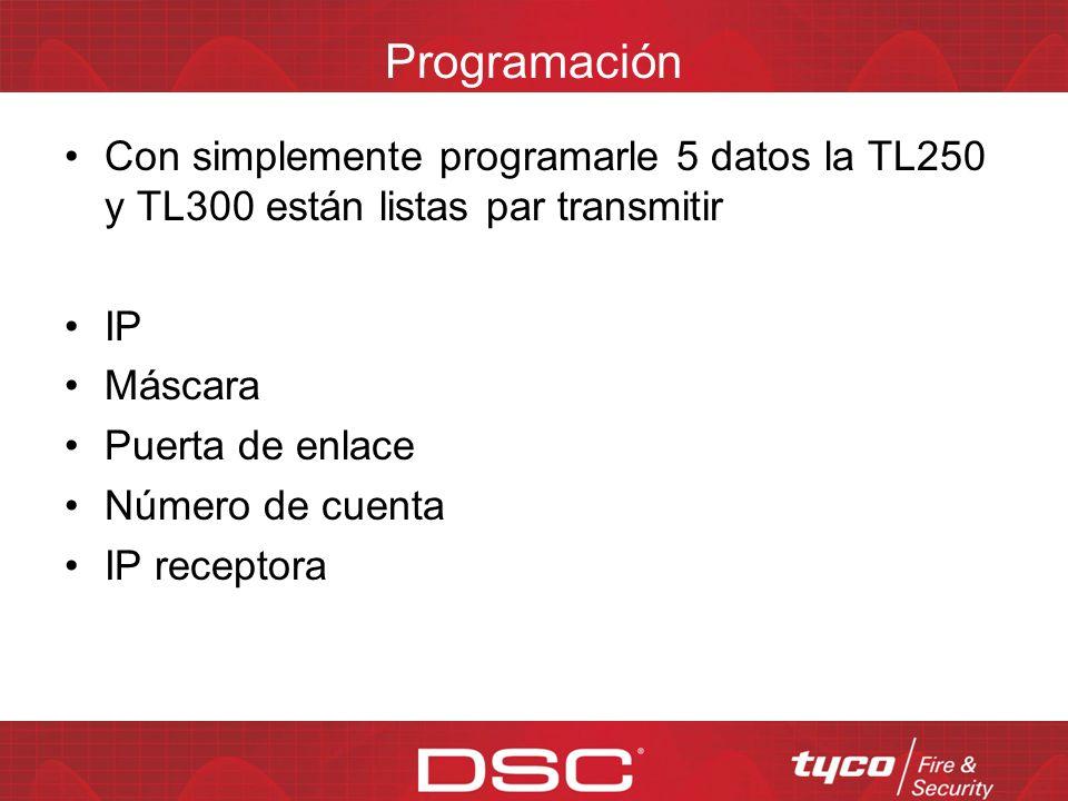 Opciones de configuración del TL-250 Dirección IP del T-Link Máscara de red del T-LINK Dirección IP del receptor primario Dirección IP de puerta de en
