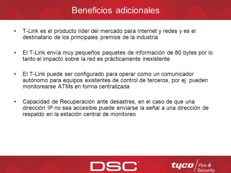 Beneficios principales de T-Link TL250/TL300 Ud. utiliza su red existente y el software System Administration Administre el sistema, agregue usuarios,