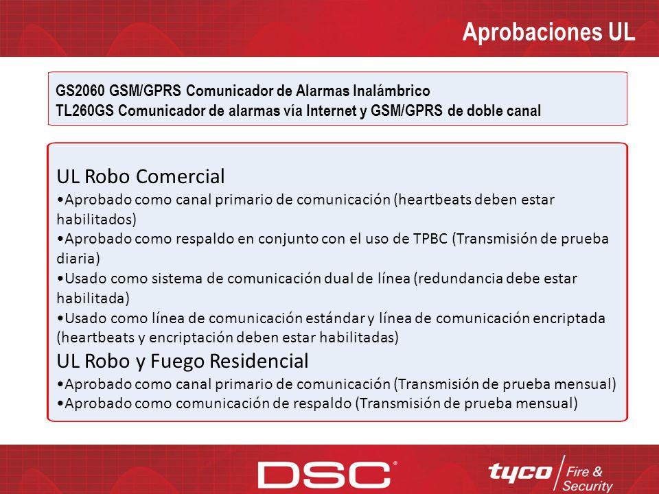 TL260GS TL260GS Comunicador de Alarmas por Internet y GSM/GPRS de doble canal Receptoras Compatibles: Sur-Gard System I: versión 1.10 y superior Sur-G