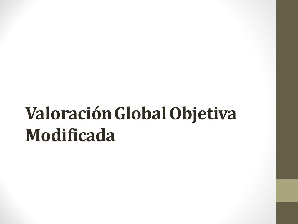 Valoración Global Objetiva Modificada