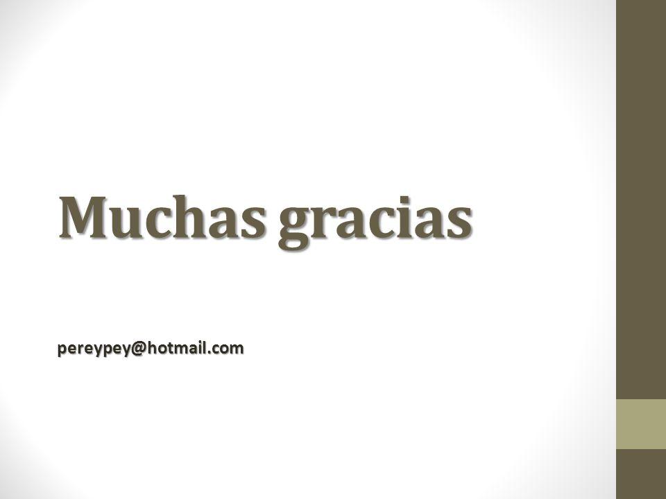 Muchas gracias pereypey@hotmail.com