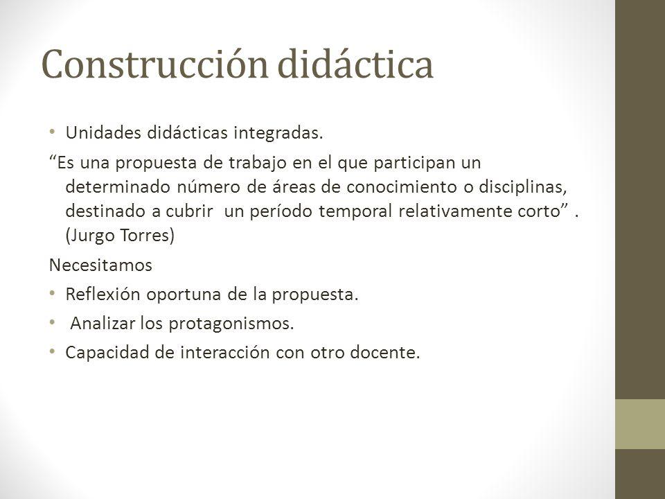 Construcción didáctica Unidades didácticas integradas.