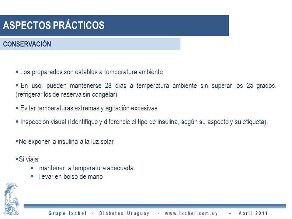 Los preparados son estables a temperatura ambiente En uso: pueden mantenerse 28 días a temperatura ambiente sin superar los 25 grados. (refrigerar los