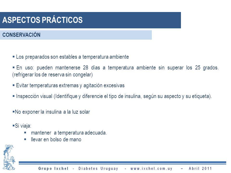 Los preparados son estables a temperatura ambiente En uso: pueden mantenerse 28 días a temperatura ambiente sin superar los 25 grados.