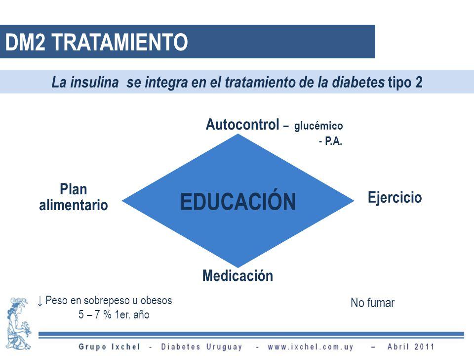 DM2 TRATAMIENTO EDUCACIÓN Autocontrol – glucémico - P.A.