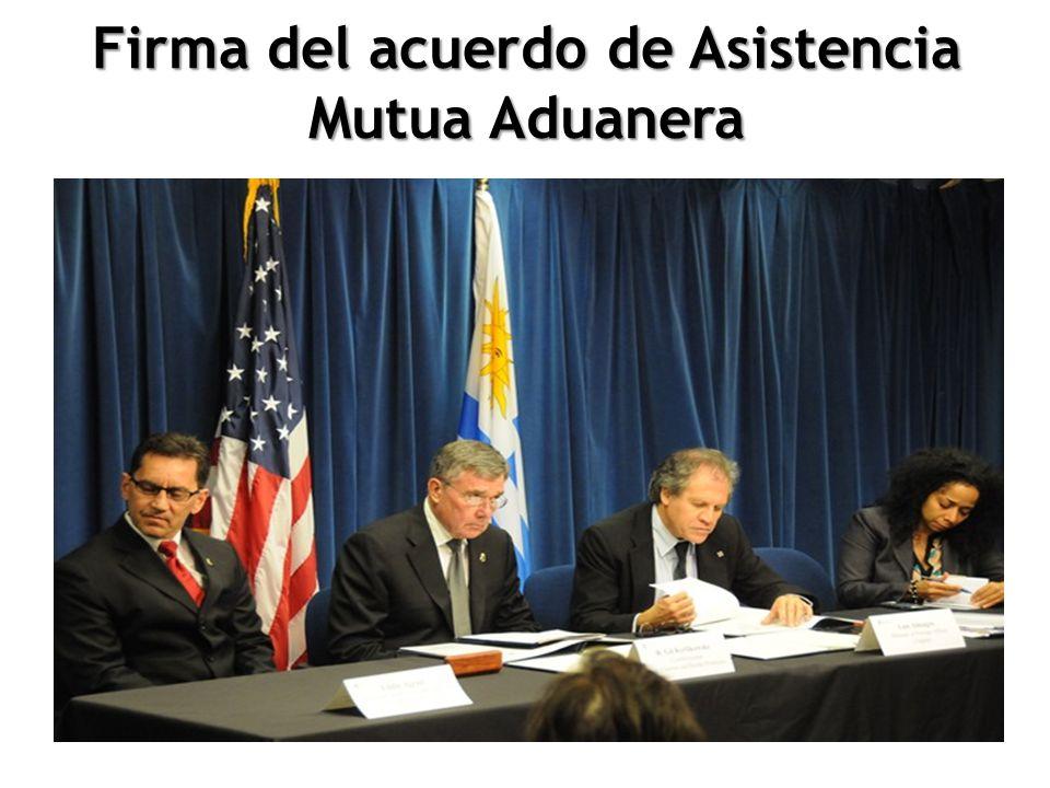 Firma del acuerdo de Asistencia Mutua Aduanera