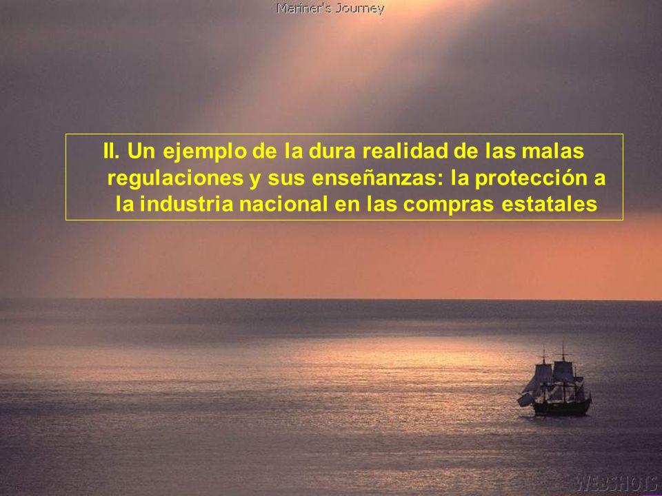 TRES ESTADOSLa ineficiencia perjudica ESTADO REGU- LADOR (2.000) Derecho, democracia, mercado y crecimiento ESTADO EMPRE- SARIO (30.000) Competitivida