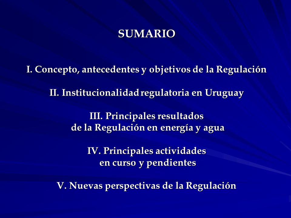 SUMARIO I.Concepto, antecedentes y objetivos de la Regulación II.