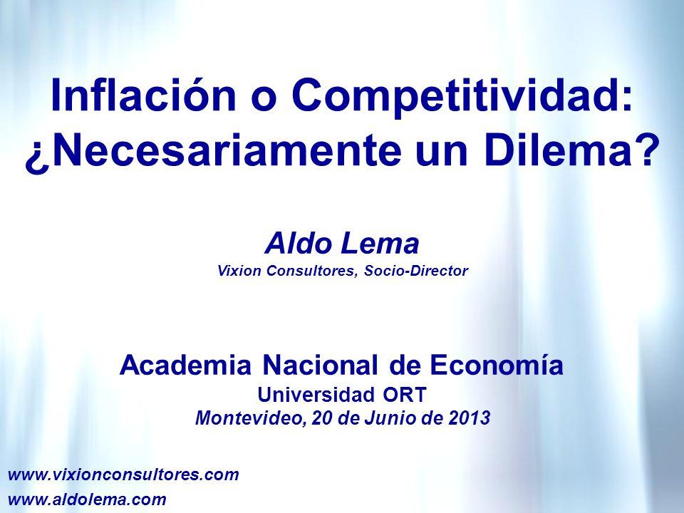 Inflación o Competitividad: ¿Necesariamente un Dilema.
