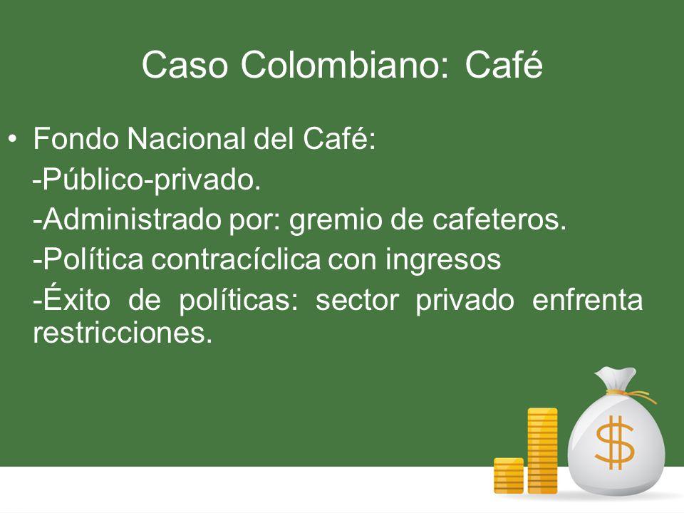 Caso Colombiano: Café Fondo Nacional del Café: -Público-privado.
