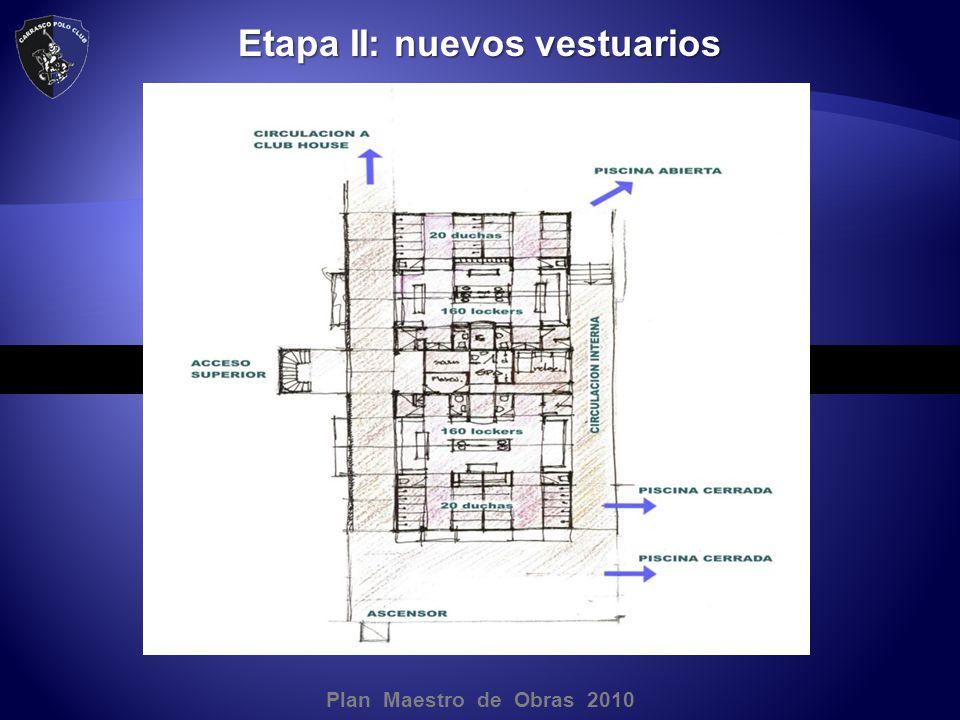 Plan Maestro de Obras 2010 Etapa II: nuevos vestuarios