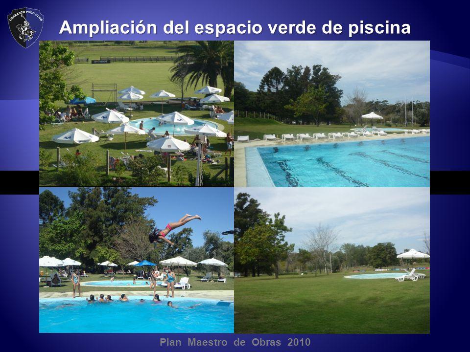 Plan Maestro de Obras 2010 Ampliación del espacio verde de piscina