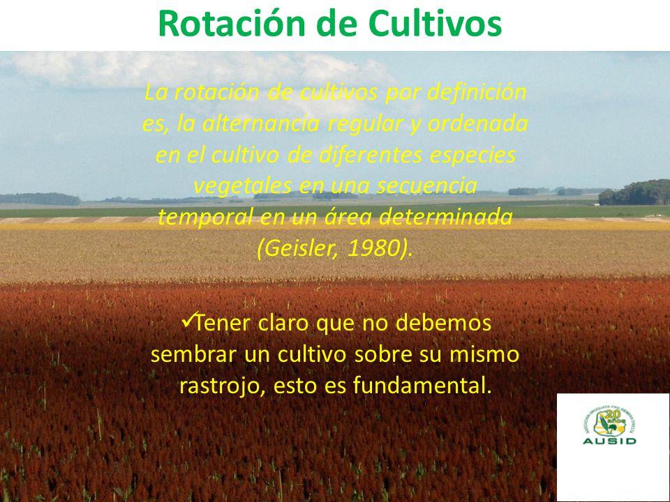 Rotación de Cultivos La rotación de cultivos por definición es, la alternancia regular y ordenada en el cultivo de diferentes especies vegetales en un