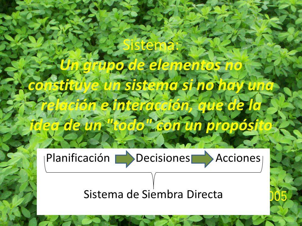 Sistema: Un grupo de elementos no constituye un sistema si no hay una relación e interacción, que de la idea de un