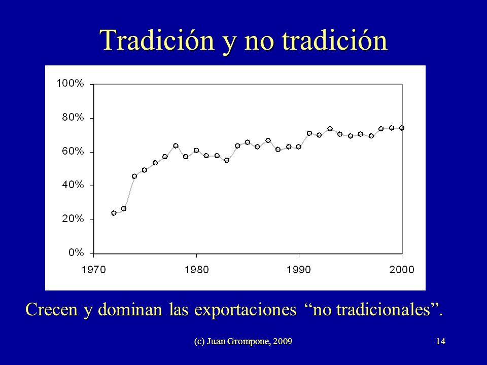 (c) Juan Grompone, 200914 Tradición y no tradición Crecen y dominan las exportaciones no tradicionales.