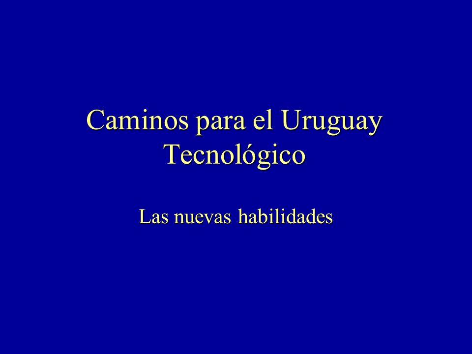 Caminos para el Uruguay Tecnológico Las nuevas habilidades