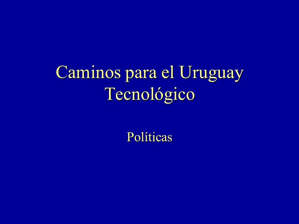 Caminos para el Uruguay Tecnológico Políticas