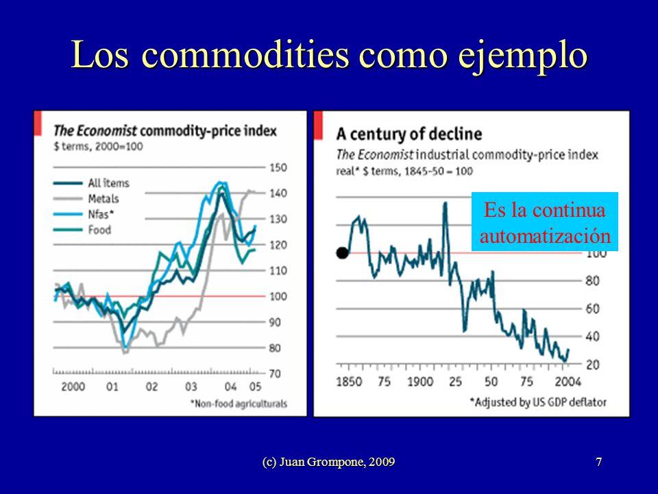 (c) Juan Grompone, 20097 Los commodities como ejemplo Es la continua automatización