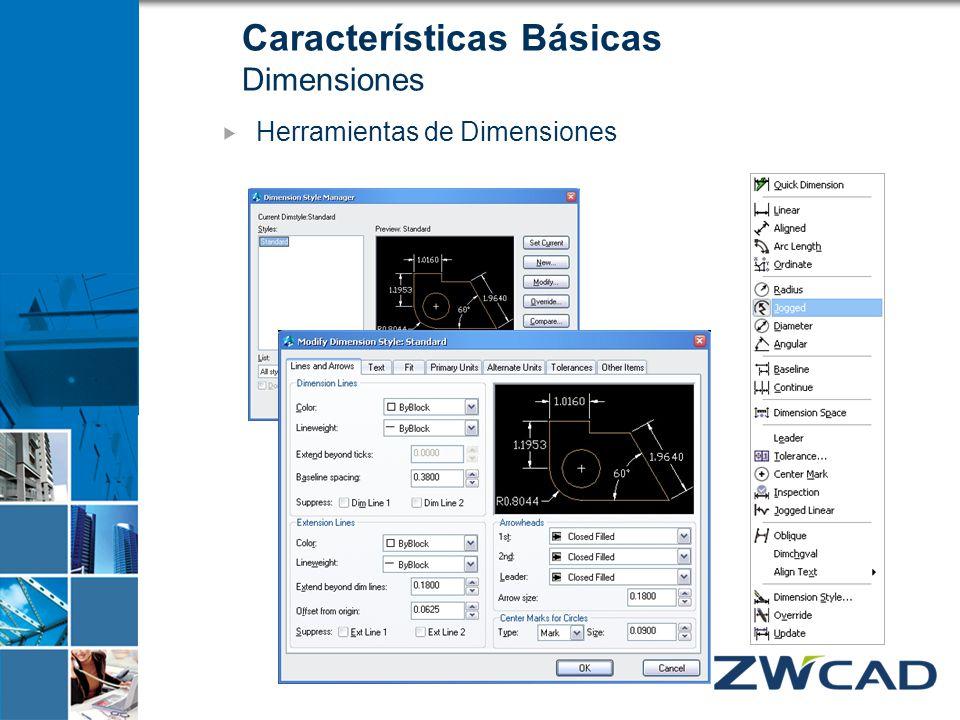 Características Básicas Dimensiones Herramientas de Dimensiones