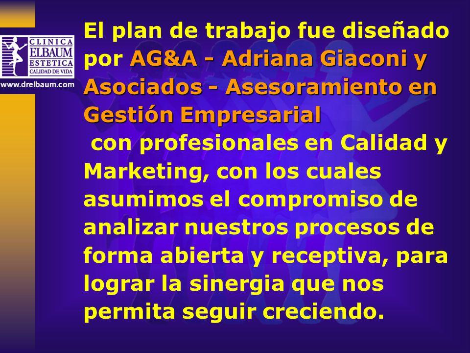 www.drelbaum.com El plan de trabajo fue diseñado AG&A - Adriana Giaconi y por AG&A - Adriana Giaconi y Asociados - Asesoramiento en Gestión Empresaria