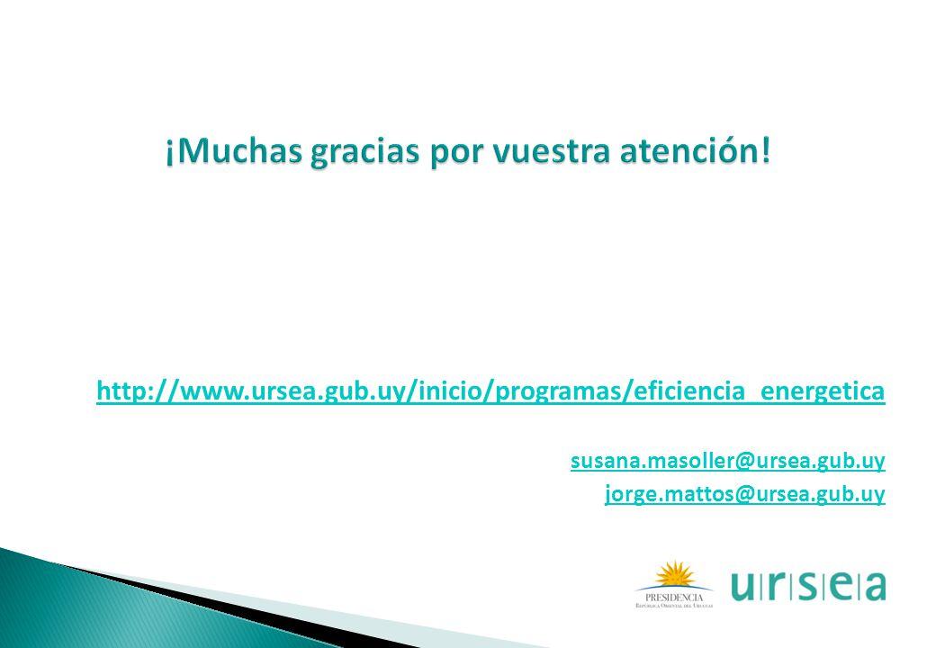 http://www.ursea.gub.uy/inicio/programas/eficiencia_energetica susana.masoller@ursea.gub.uy jorge.mattos@ursea.gub.uy