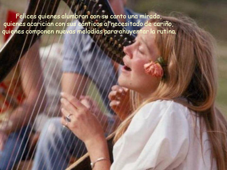 Felices quienes cantan al oído de la persona amada, quienes la arrullan con su canción preferida, quienes bailan al son de la balada más romántica.