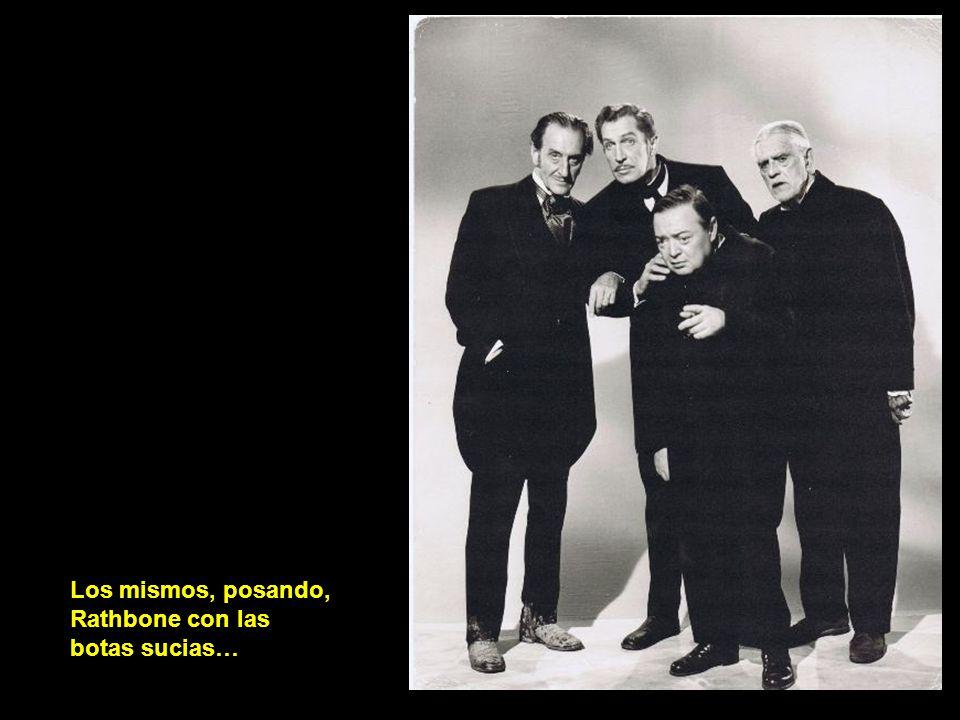Rathbone, Karloff, Lorre y Price en un descanso de La comedia de los terrores, y enlazamos con el género de terror…
