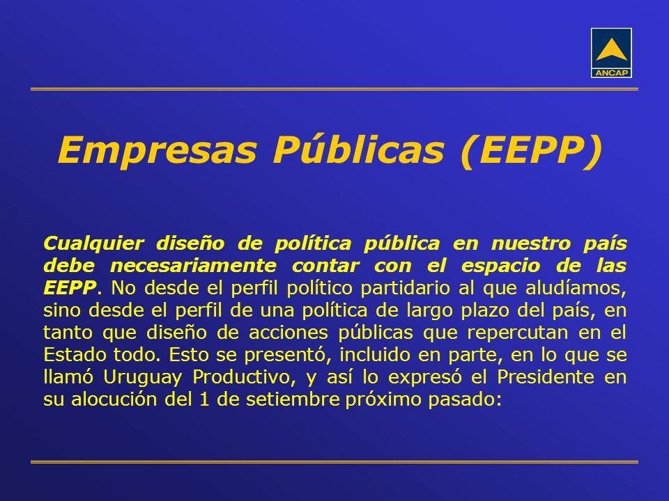 Cualquier diseño de política pública en nuestro país debe necesariamente contar con el espacio de las EEPP. No desde el perfil político partidario al