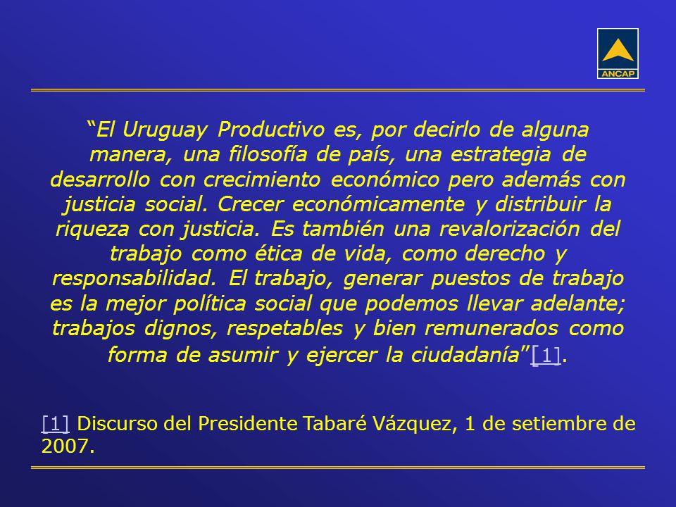 El Uruguay Productivo es, por decirlo de alguna manera, una filosofía de país, una estrategia de desarrollo con crecimiento económico pero además con