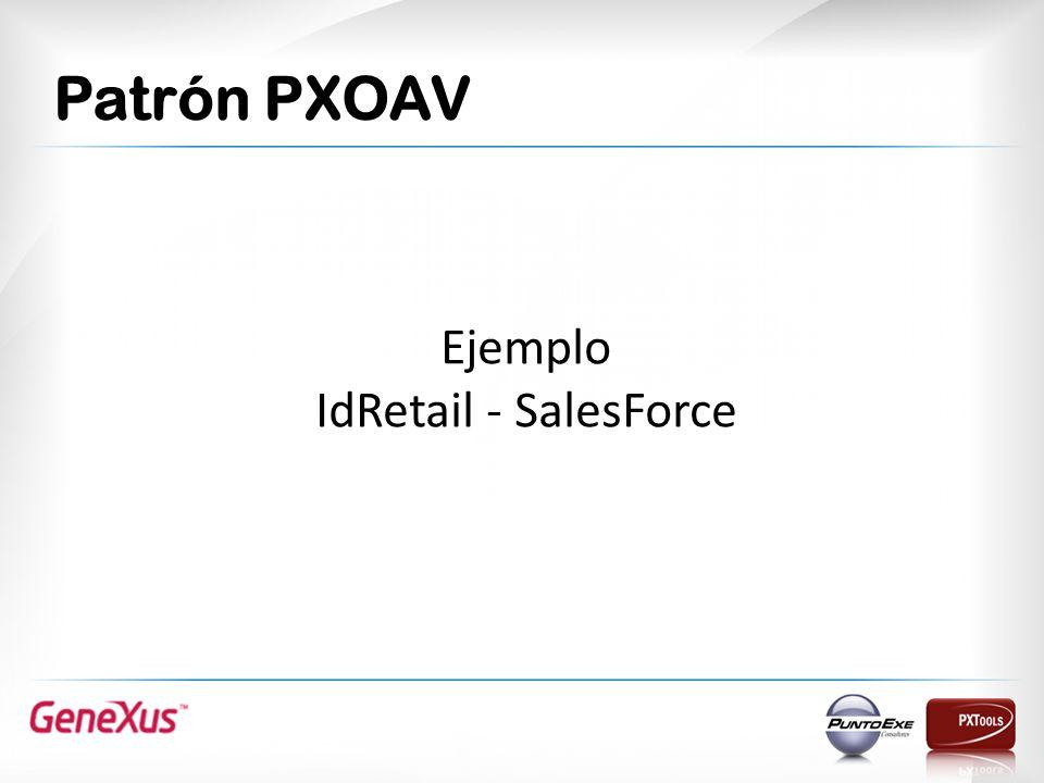 Patrón PXOAV Ejemplo IdRetail - SalesForce