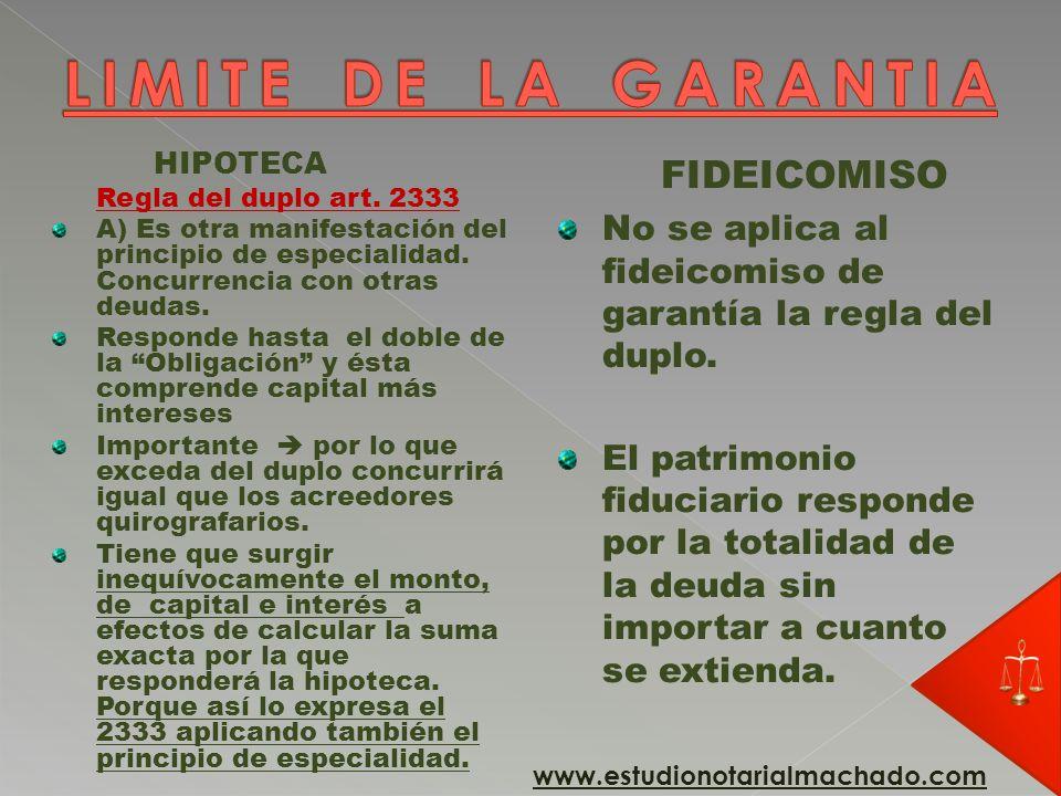 HIPOTECA Purga de la hipoteca 2340/2 Se puede ejecutar con citación o sin citación de los acreedores hipotecarios.