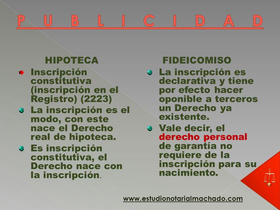 HIPOTECA Regla del duplo art.2333 A) Es otra manifestación del principio de especialidad.